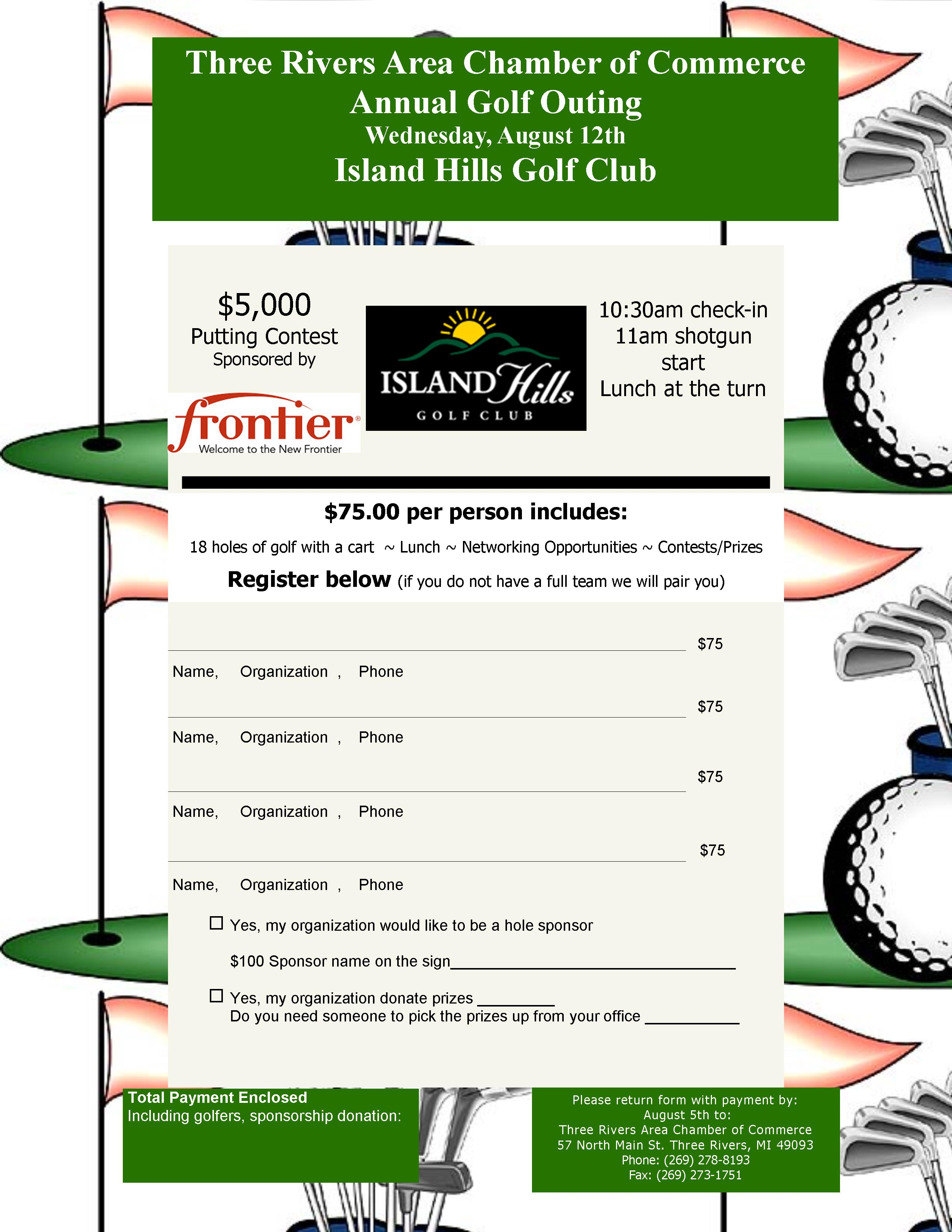 Golf Outing Flyer 2015